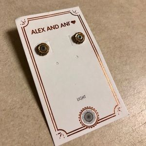 ALEX AND ANI Sunflower Earrings